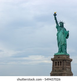 Statue of Liberty, New York City, United States. Far right view.