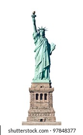 Statue of Liberty in New York isolated on a white background - the United States of America (USA)