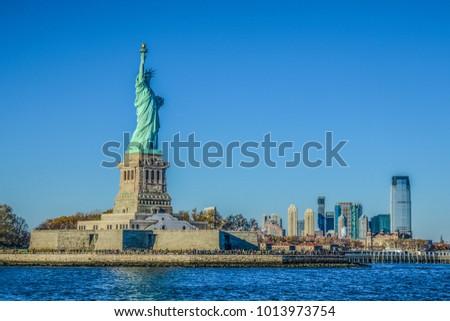 Statue Liberty New York Magic Travel Stock Photo Edit Now