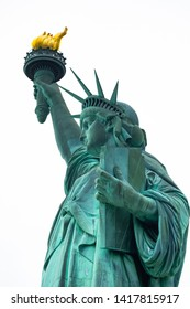 Statue of liberty, New York, Manhattan. USA. Isolated symbol.
