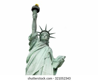 The Statue of Liberty, New York, USA (clipping path)