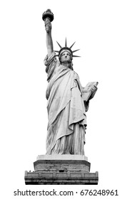 The Statue of Liberty, New York, USA (with clipping path)