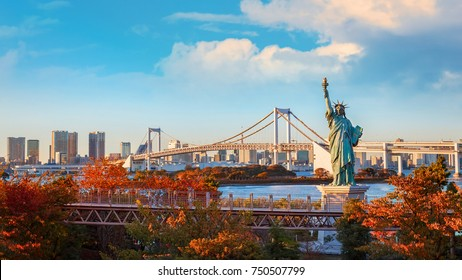 Statue of Liberty in Odaiba area, Tokyo, Japan