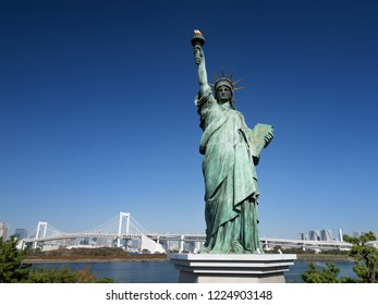 Statue of liberty in Odaiba, Tokyo