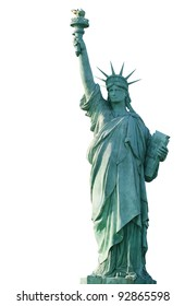 Statue of Liberty on a white background