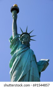Statue of Liberty a popular tourist attraction in in New York City USA