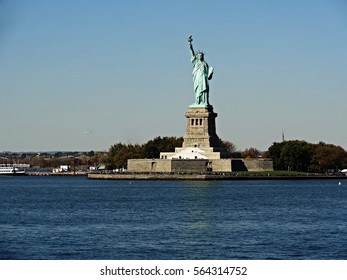 the Statue of Liberty as seen from the Staten Island Ferry