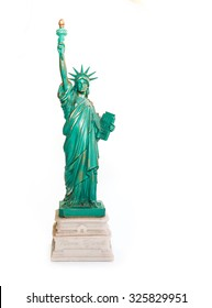 Statue of Liberty Souvenir on White Background