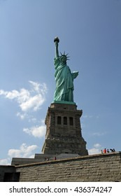 Statue of Liberty as viewed from on the island in New York Harbor