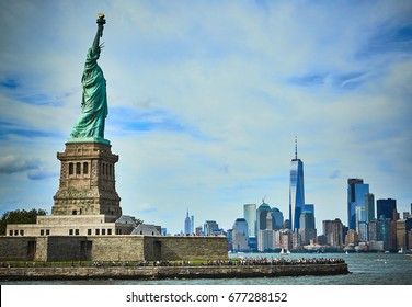 Statue of Liberty viewed from Upper New York Bay