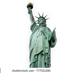 Statue of Liberty with white background, New York, USA