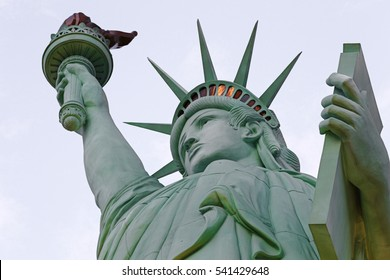 Statue of Liberty White Color Background