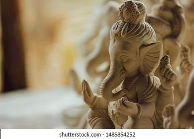Statue of Lord Ganesha Made from plaster of Paris without color