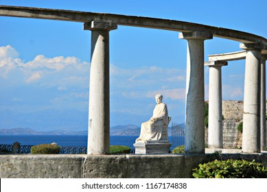 Statue of Lord of Guilford, in Boschetto park of Corfu Town