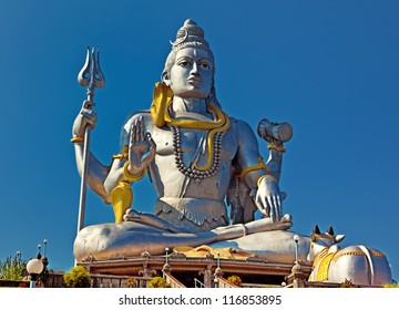 Statue of Lord Shiva in  Murudeshwar Temple in Karnataka. India