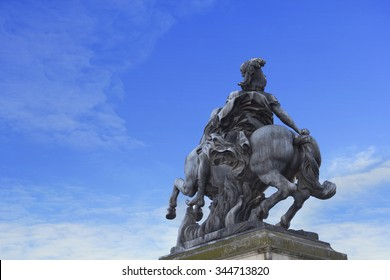 Statue of  Louis XIV - king of France in the XVII-XVIII century (1643-1715)