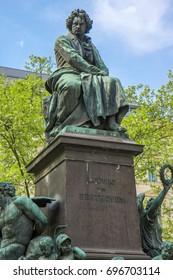 Statue of Ludwig van Beethoven in Vienna, Austria