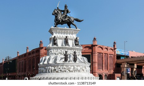 statue of maharaja ranjit singh from amritsar india