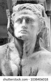 Statue man face exterior