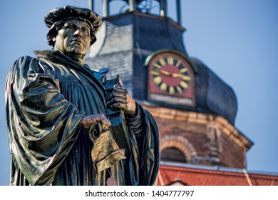 Statue of Martin Luther in Eisleben, Germany