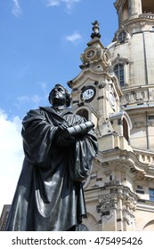 Statue of Martin Luther in front of the Frauenkirche in Dresden, Germany