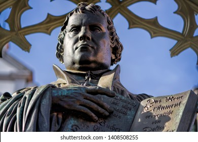 Statue of Martin Luther in Wittenberg, Germany