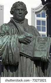 statue of Martin Luther,Wittenberg,Germany