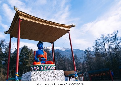 Statue of the Medicine Buddha in Arshan. Buryatia. Buddhism.