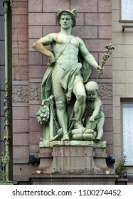 Statue of Mercury in the front of Eliseyev Emporium, Saint Petersburg