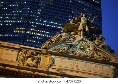 Statue of Mercury at the Grand Central Station in New York City.