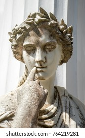 Statue of a Muse in Achillion Palace on Corfu island Greece