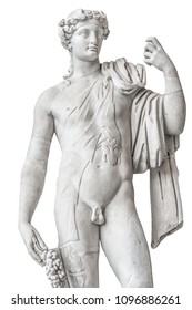 Statue of naked beautiful Apollo isolated at white background, Rome, Italy