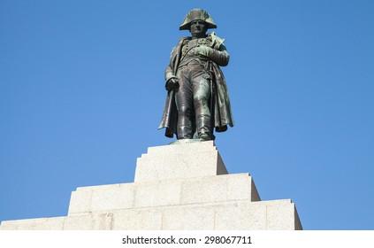 Statue of Napoleon Bonaparte as First emperor of France, Ajaccio, island of Corsica
