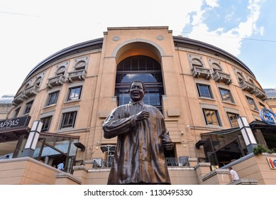 The Statue of Nelson Mandela at Nelson Mandela Square, Sandton City, Johannesburg, South Africa on 17th November 2017