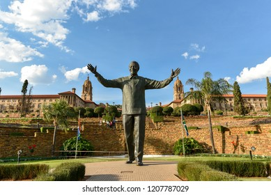 The Statue of Nelson Mandela at the Union Buildings, Pretoria, South Africa on 17th October 2018