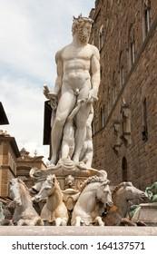 Statue of Neptune in Florence in Piazza della Signoria.