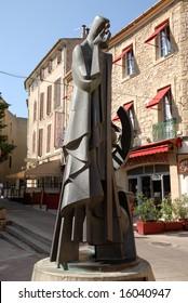 Statue of Nostradamus in Salon-de-Provence, France