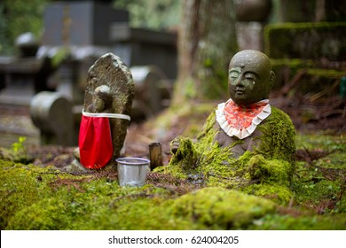 A statue at Okinoin graveyard, Koyasan, Japan