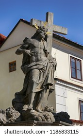 Statue on the Charles Bridge in Prague