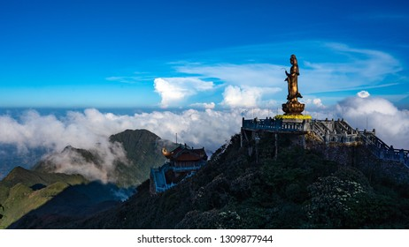 Statue on Fansipan Mountain, Sapa, Vietnam