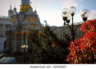 Statue on Independence Square in Kiev, Ukraine.