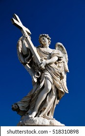 Statue on Ponte Sant'Angelo in Rome, Italy