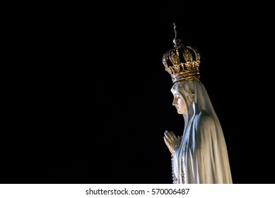 The statue of Our Lady of Fatima, Portugal