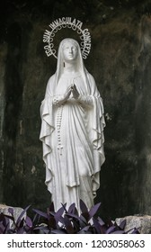 Statue Our lady of Lourdes virgin Mary