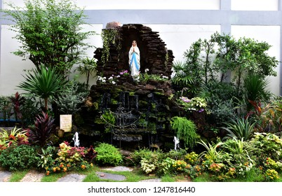 Statue Our lady of Lourdes virgin Mary, thailand