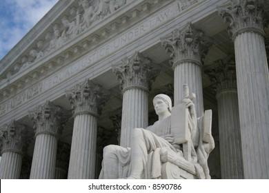 statue outside Supreme Court Washington DC