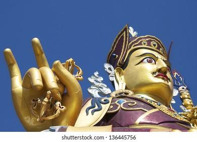 Statue of Padmasambhava, Rewalsar, Himachal Pradesh 37.5 metres high and inaugurated by H.H the 14th Dalai Lama of Tibet on the 1st of April 2012
