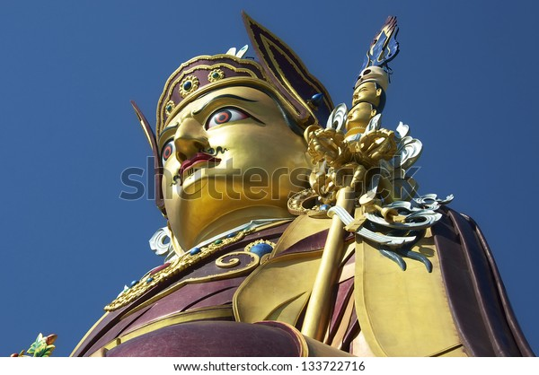 Statue of Padmasambhava, Rewalsar, Himachal Pradesh 37.5 metres high and inaugurated by H.H the 14th Dalai Lama of Tibet on the 1st of April 2012.