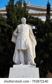 Statue of Panagis Vallianos in Athens.