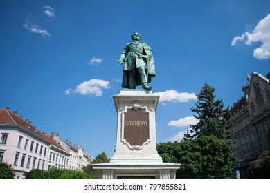 Statue to István Széchenyi in a park in the city of Sopron, Hungary